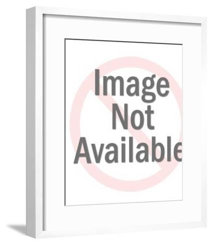 Woman Being Carried Away By Werewolf-Pop Ink - CSA Images-Framed Art Print