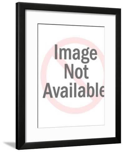 White bear with Santa-Pop Ink - CSA Images-Framed Art Print