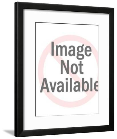Man with open driver's door of car-Pop Ink - CSA Images-Framed Art Print