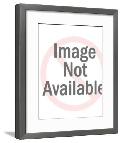 Woman showing red car-Pop Ink - CSA Images-Framed Art Print