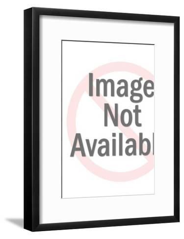 Man with newspaper-Pop Ink - CSA Images-Framed Art Print