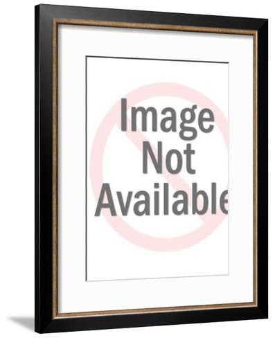 Man in swim trunks with pipe-Pop Ink - CSA Images-Framed Art Print