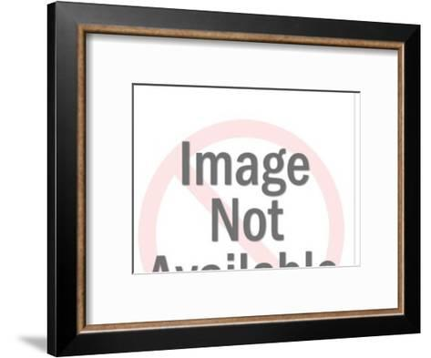 Baby pushing up-Pop Ink - CSA Images-Framed Art Print
