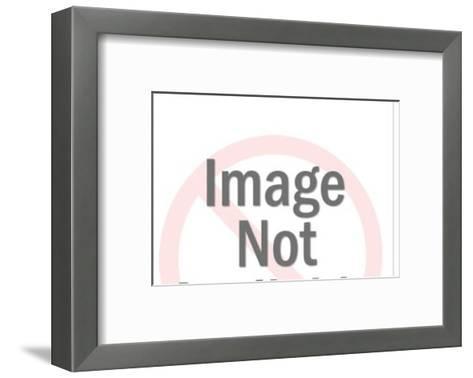 Woman in bikini diving-Pop Ink - CSA Images-Framed Art Print