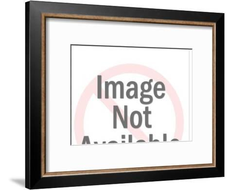 Couple at a table-Pop Ink - CSA Images-Framed Art Print