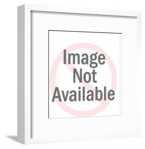 Two flamingos-Pop Ink - CSA Images-Framed Art Print