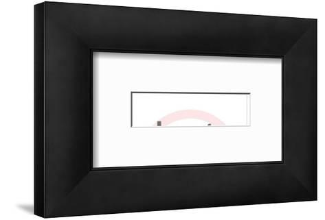 Beach scene-Pop Ink - CSA Images-Framed Art Print