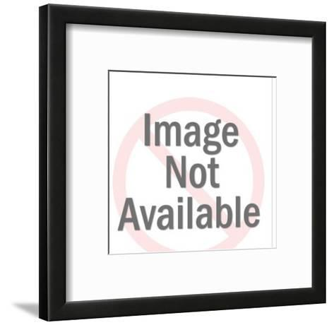 Woman with full refrigerator-Pop Ink - CSA Images-Framed Art Print