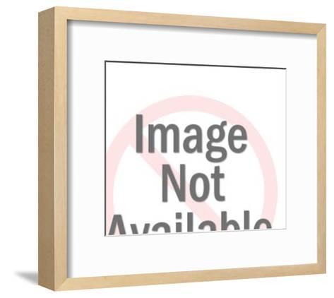 Man on phone-Pop Ink - CSA Images-Framed Art Print