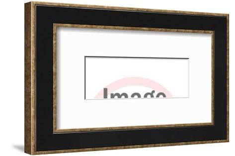 Black cat eye mask-Pop Ink - CSA Images-Framed Art Print
