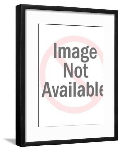 Kitten with sundae-Pop Ink - CSA Images-Framed Art Print