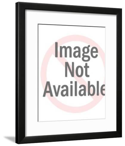 Woman opening a gift-Pop Ink - CSA Images-Framed Art Print