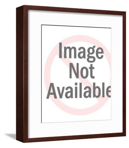 Black cat-Pop Ink - CSA Images-Framed Art Print