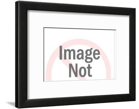 Policeman, red sun, camel-Pop Ink - CSA Images-Framed Art Print