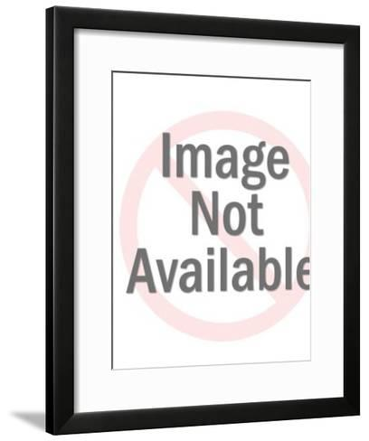 Dog on a box-Pop Ink - CSA Images-Framed Art Print