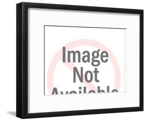 Woman on sailboat-Pop Ink - CSA Images-Framed Art Print