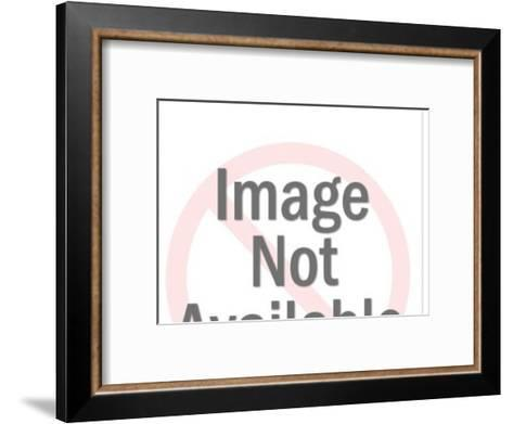 Man falls over by train-Pop Ink - CSA Images-Framed Art Print