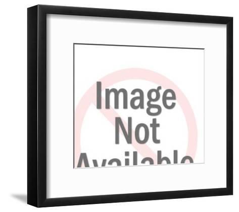 Dollar bill leaving a house-Pop Ink - CSA Images-Framed Art Print