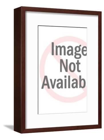 Burlesque dancer in glass-Pop Ink - CSA Images-Framed Art Print