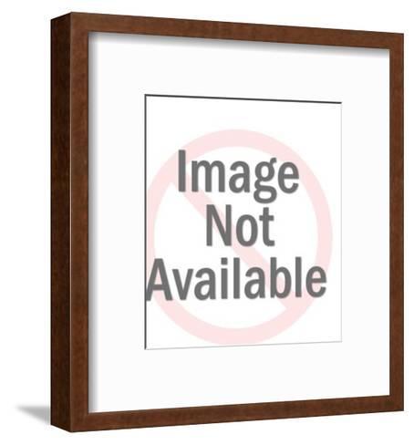 Brunette-Pop Ink - CSA Images-Framed Art Print