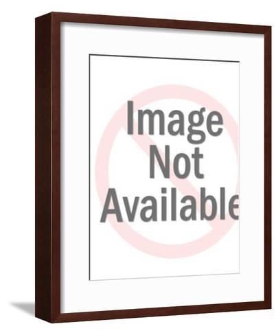 Woman Performing Fan Dance-Pop Ink - CSA Images-Framed Art Print