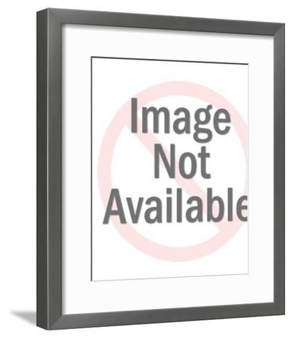 Two People Holding a Large Globe-Pop Ink - CSA Images-Framed Art Print