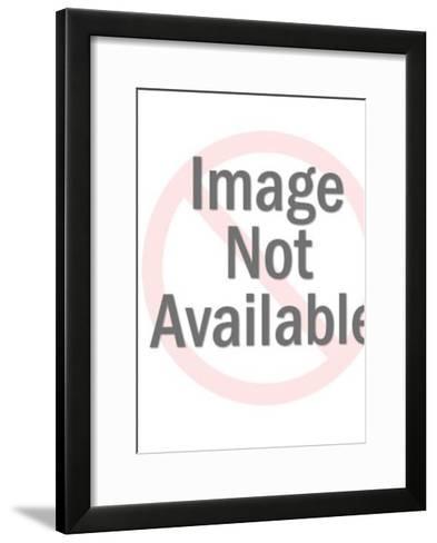 Astronaut Holding Planet-Pop Ink - CSA Images-Framed Art Print