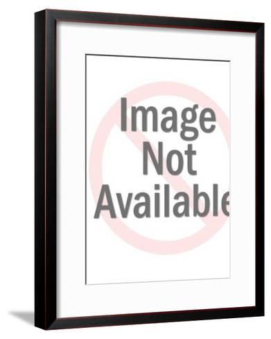 Couple Dancing on a Patio-Pop Ink - CSA Images-Framed Art Print