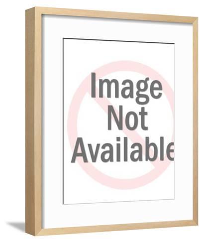 Woman on the Beach-Pop Ink - CSA Images-Framed Art Print