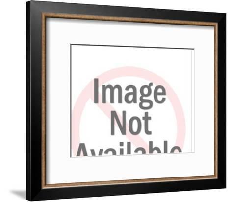 Businessman Racing the Clock-Pop Ink - CSA Images-Framed Art Print