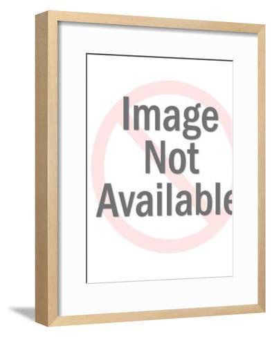 Rocket in Space-Pop Ink - CSA Images-Framed Art Print