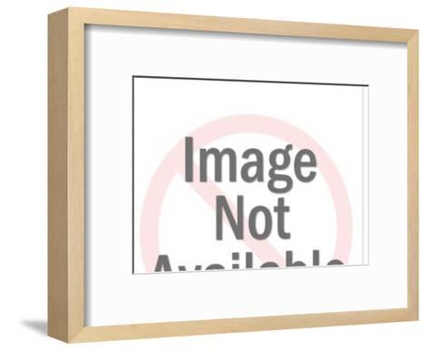Boy and dog-Pop Ink - CSA Images-Framed Art Print