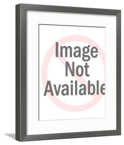 Woman with pumpkin-Pop Ink - CSA Images-Framed Art Print