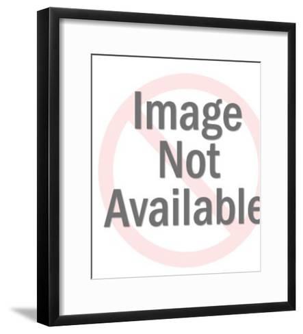 Gold digger smoking-Pop Ink - CSA Images-Framed Art Print