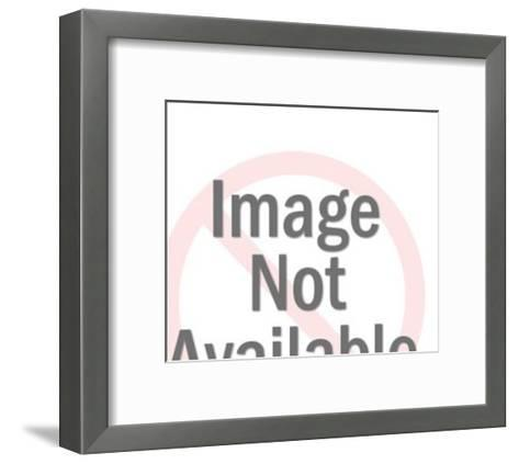 Couple kissing-Pop Ink - CSA Images-Framed Art Print