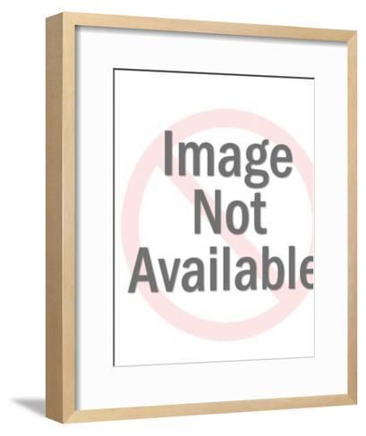 Clown with kitten-Pop Ink - CSA Images-Framed Art Print