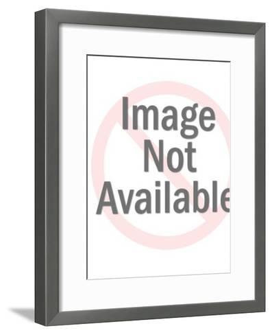 Man With Knife-Pop Ink - CSA Images-Framed Art Print