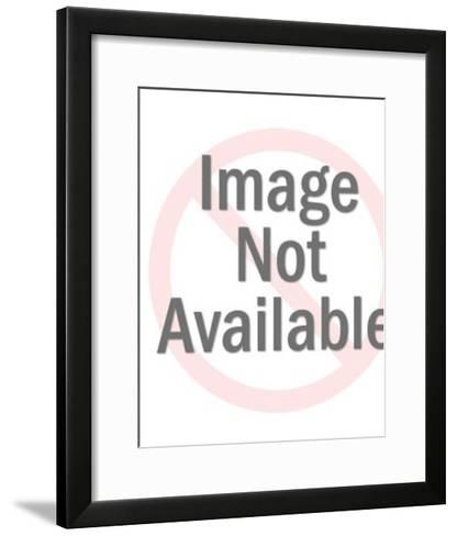 Baseball Player in Star-Pop Ink - CSA Images-Framed Art Print
