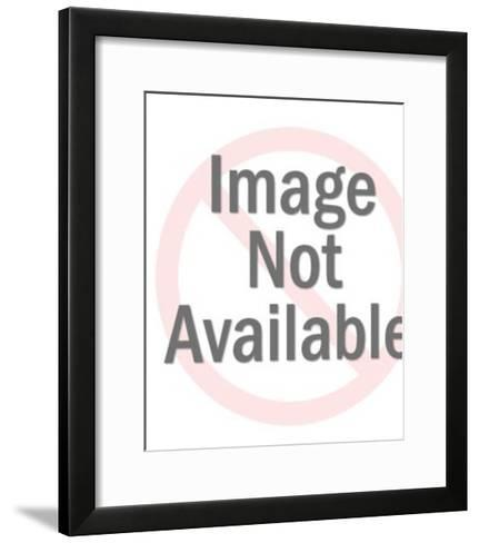 Woman Looking at Butterfly-Pop Ink - CSA Images-Framed Art Print