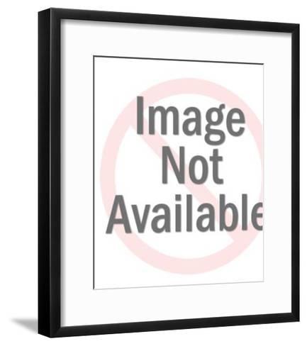 Groovy Girl Knitting-Pop Ink - CSA Images-Framed Art Print