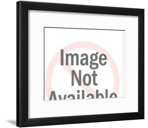 Robin in Tree-Pop Ink - CSA Images-Framed Art Print