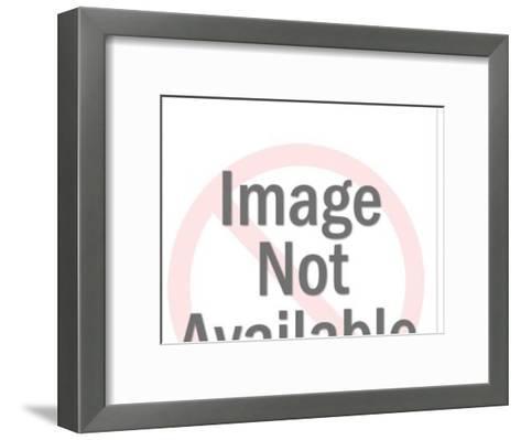Brown Steer-Pop Ink - CSA Images-Framed Art Print