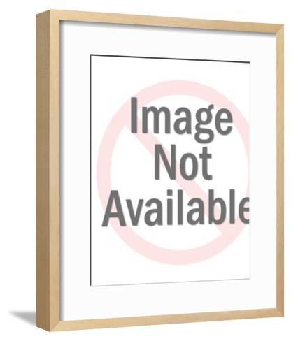 Beetle on Orange Background-Pop Ink - CSA Images-Framed Art Print