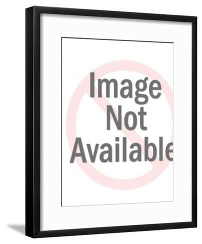 Jesus and Cross on Striped Background-Pop Ink - CSA Images-Framed Art Print