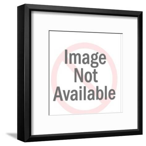 Chickadees in Tree-Pop Ink - CSA Images-Framed Art Print