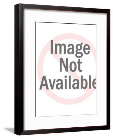 Grey Kitten in Basket-Pop Ink - CSA Images-Framed Art Print