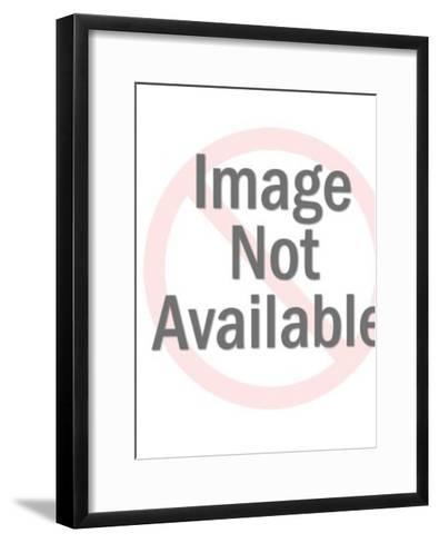 Black and White Kitten in Basket-Pop Ink - CSA Images-Framed Art Print