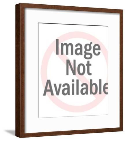 Portrait of Mustache Man EAP-Pop Ink - CSA Images-Framed Art Print