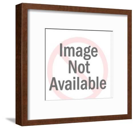 Woman Wearing White Slip-Pop Ink - CSA Images-Framed Art Print