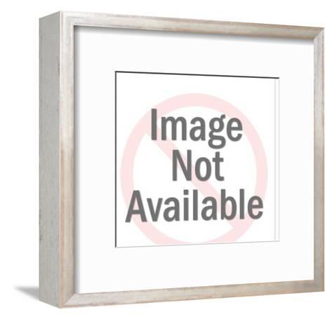 Asian Woman Wearing Bathrobe-Pop Ink - CSA Images-Framed Art Print